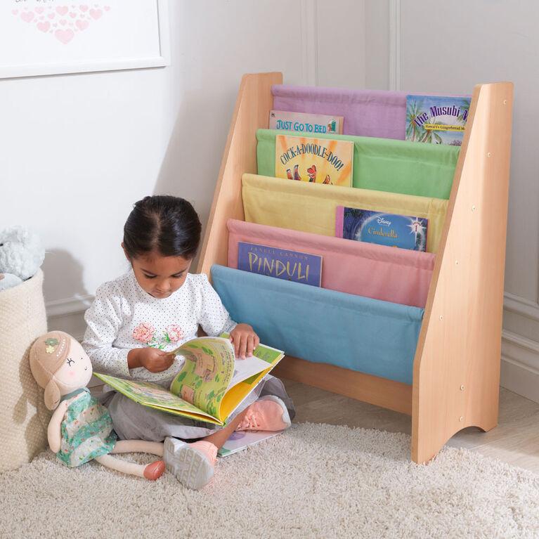 KidKraft - Sling Bookshelf - Pastel & Natural