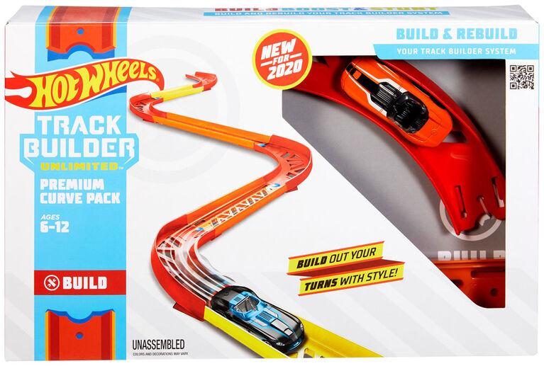 Ensemble Piste sinueuse haut de gamme Track Builder Hot Wheels