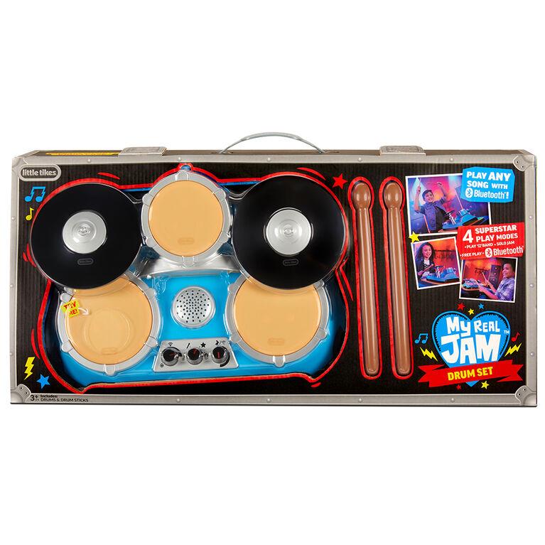 Batterie My Real Jam, batterie factice avec baguettes et étui