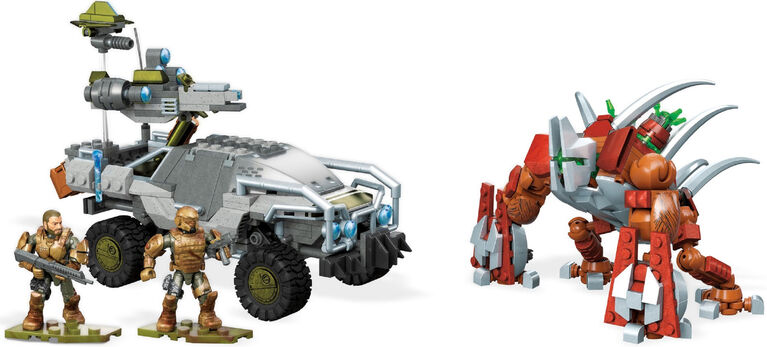 Mega Construx Halo Forgehog vs Banished Goliath Set