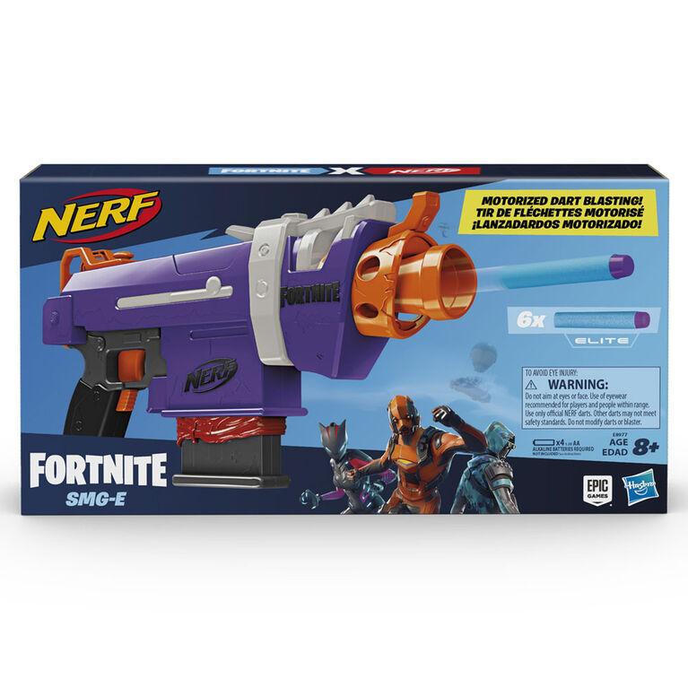 Blaster motorisé Fortnite SMG-E Nerf Elite avec chargeur