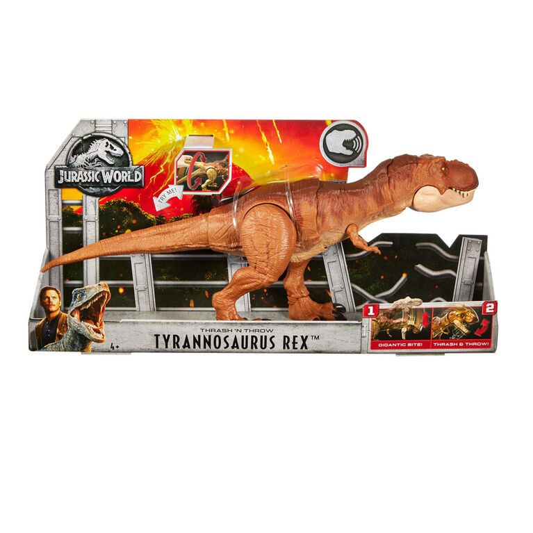 Jurassic World Thrash 'N Throw Tyrannosaurus Rex Figure