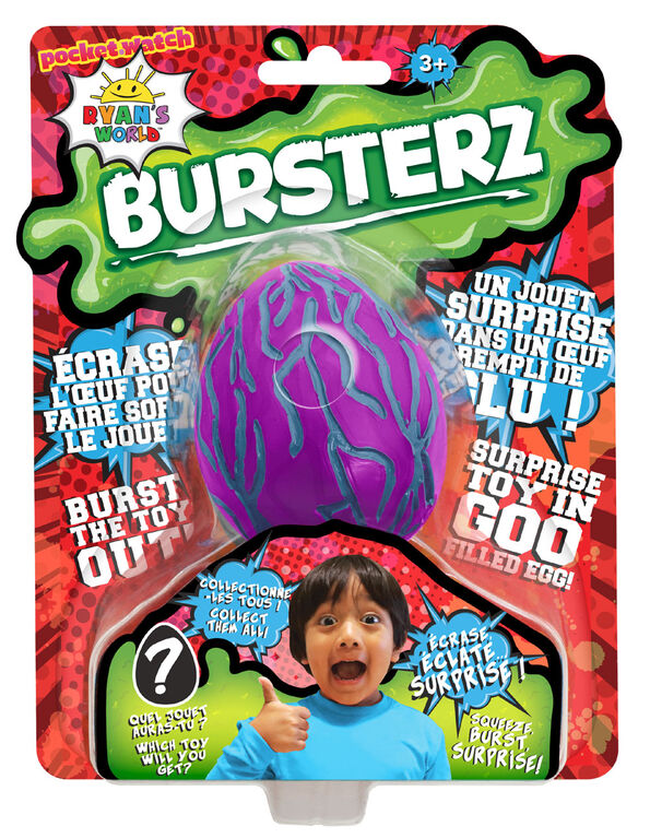 Ryan's World Bursters Goo Filled Egg - Purple