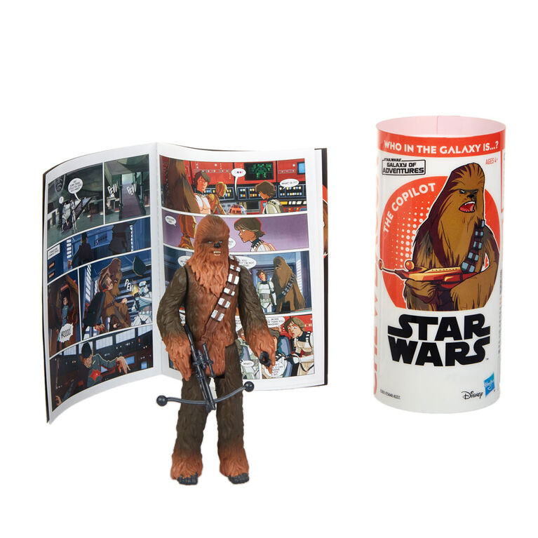 Star Wars Galaxy of Adventures Chewbacca Figure and Mini Comic - French Edition