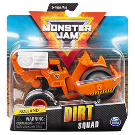 Monster Jam, Official Rolland Dirt Squad Steamroller Monster Truck with Moving Parts, 1:64 Scale Die-Cast Vehicle