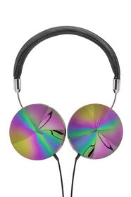 Art + Sound Iridescent Headphones with Mic, Black
