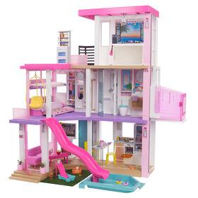 Barbie - Maison de poupée (109 cm), piscine, glissade, lumières, sons