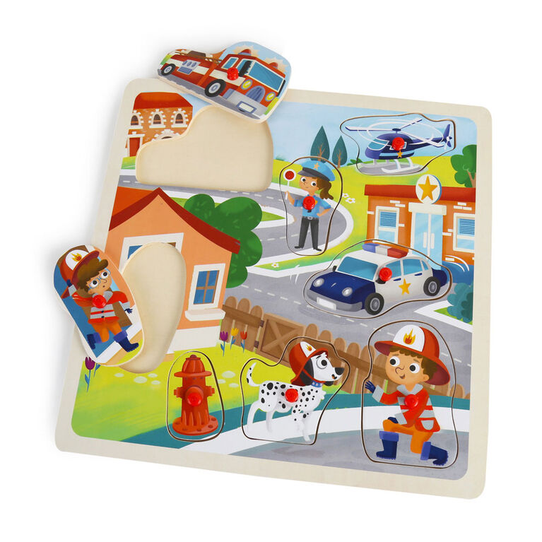Imaginarium Discovery - Wooden Classic Peg Puzzle Assortment - Traffic