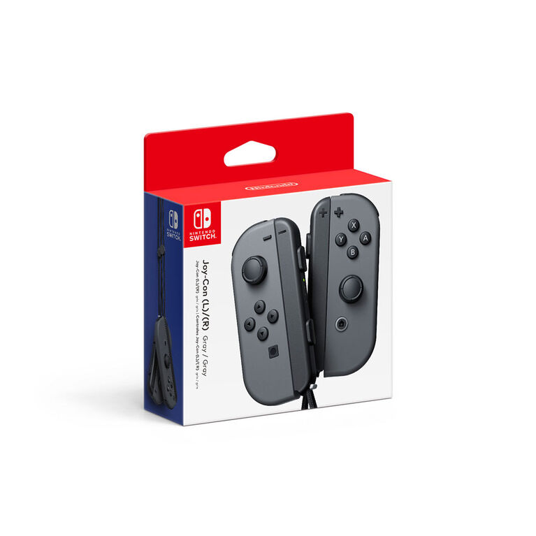 Nintendo Switch - Left and Right Joy-Con Controllers - Grey