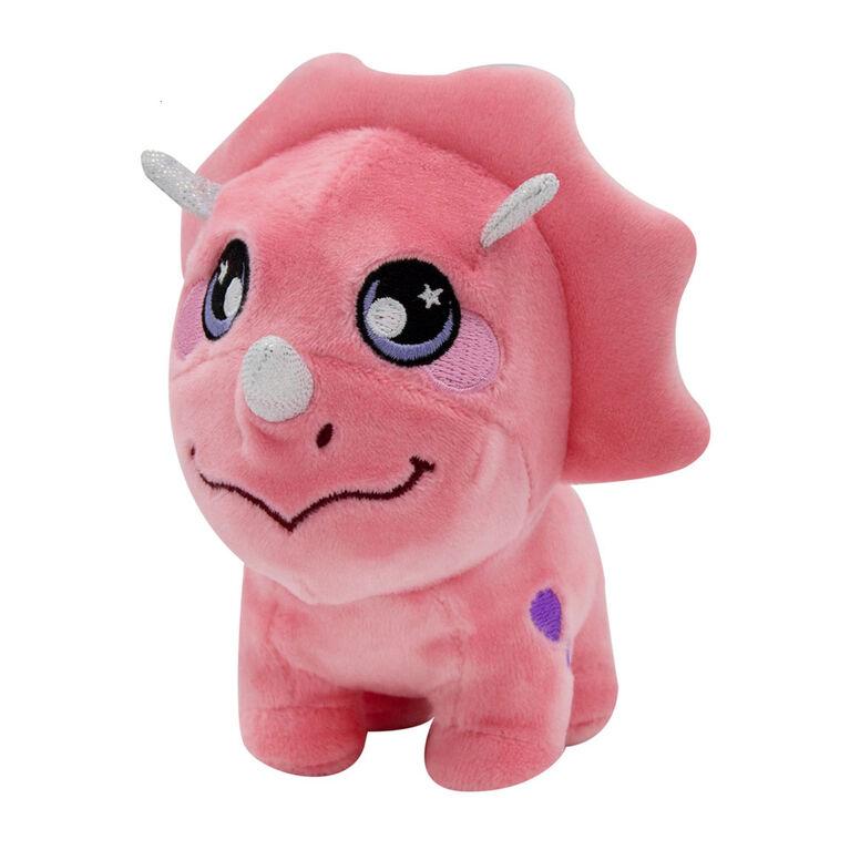 Squeezamals - 8 Inches - 3Deez  - Pink Dinosaur