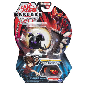 Bakugan, Darkus Dragonoid, 2-inch Tall Collectible Action Figure and Trading Card