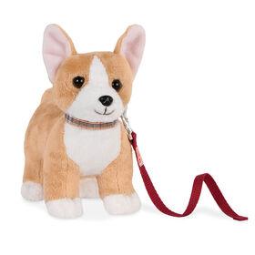 Our Generation, Corgi Pup, Pet Dog Plush with Posable Legs