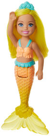Barbie Dreamtopia Chelsea Mermaid Doll, 6.5-inch with Yellow Hair and Tail