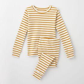 happy dream organic sleep set, 6y - honey stripe