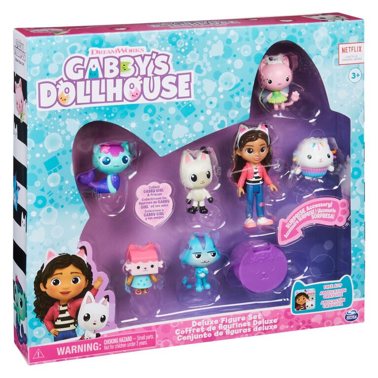 DreamWorks Gabby's Dollhouse, Deluxe Figure Gift Set with 7 Toy Figures and Surprise Accessory