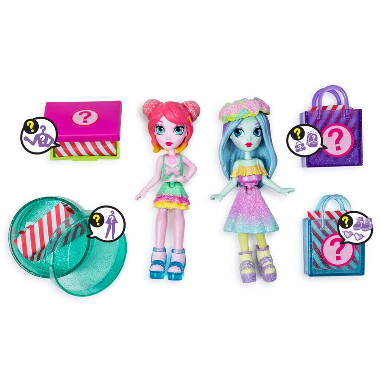 Off The Hook Style BFFs, Brooklyn & Alexis (Spring Dance), 4-inch Small Dolls with Mix and Match Fashions and Accessories - R Exclusive