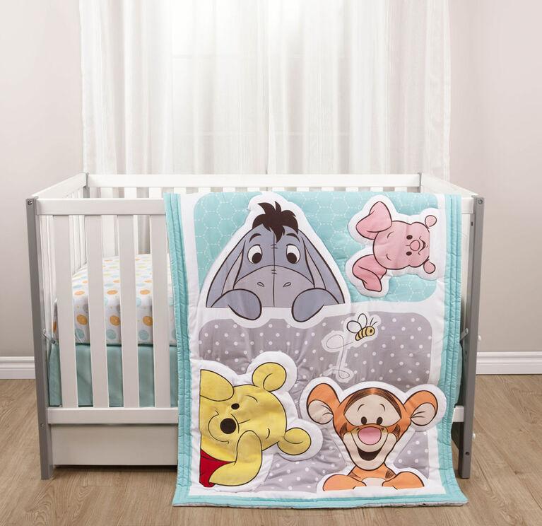 Disney Baby Fitted Crib Sheet & Crib Ruffle- Winnie The Pooh