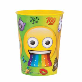 Rainbow Emoji Gobelet en plastique de 16on