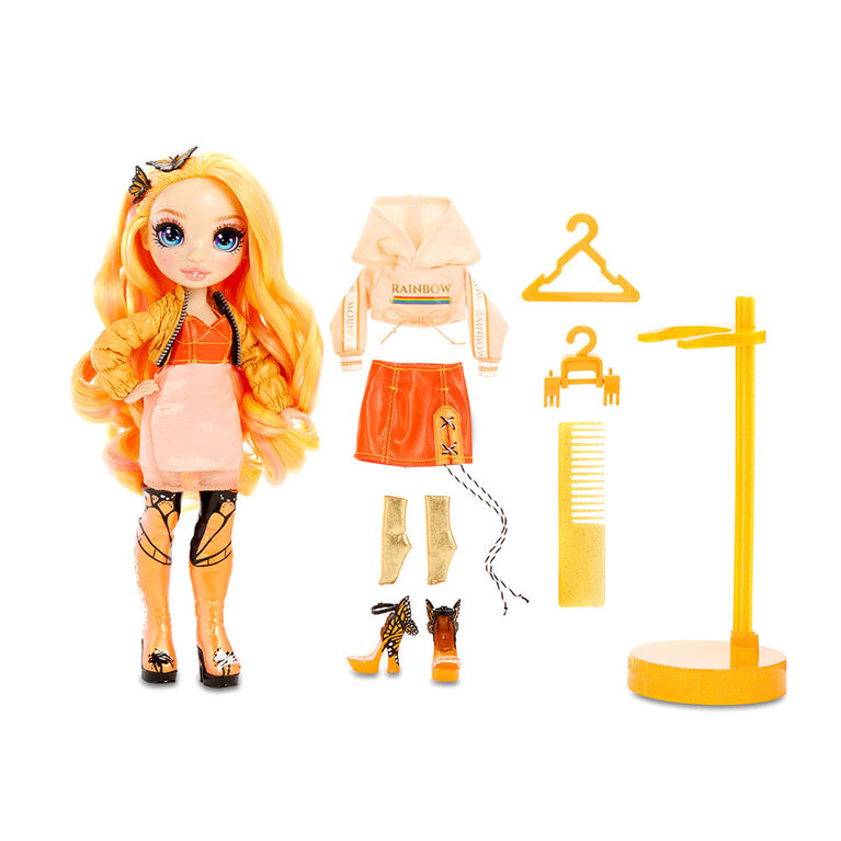 Rainbow High Poppy Rowan - Orange Fashion Doll with 2 Outfits