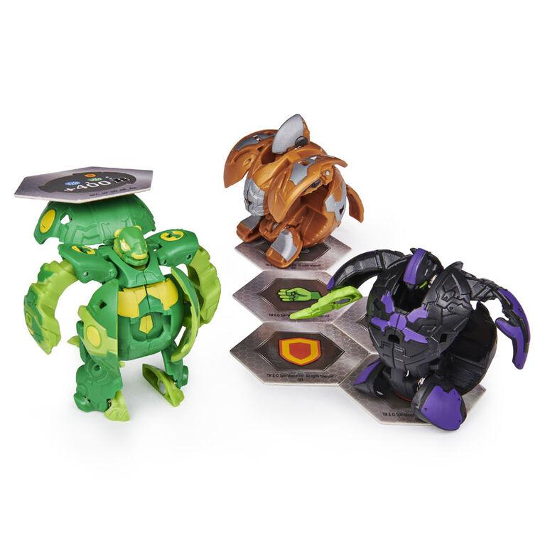 Bakugan, Starter Pack 3 personnages, Ventus Pandox, Créatures transformables à collectionner