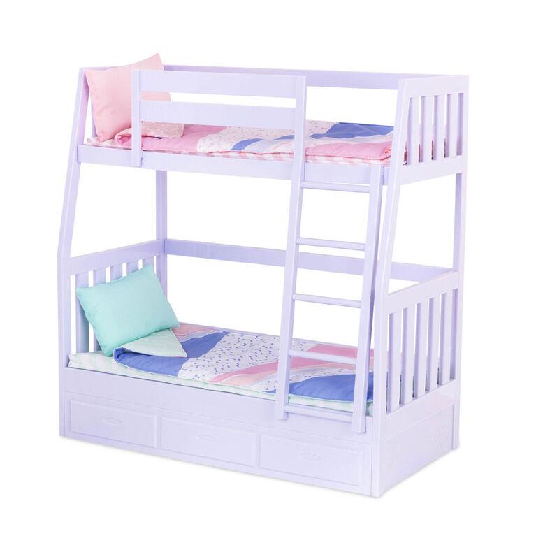 Dream Bunks, Our Generation, Ensemble d'accessoires et de lit superposé pour poupées de 18po - Notre exclusivité