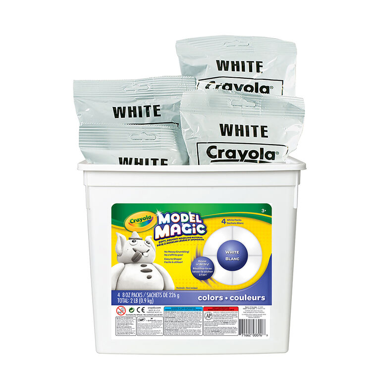 Crayola - Model Magic Bucket, White 2lb