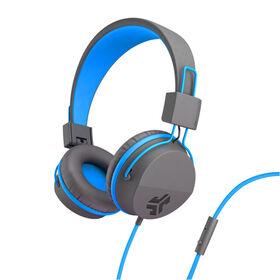 JLab Audio JBuddies Over Ear Folding Headphos Bl/Gr
