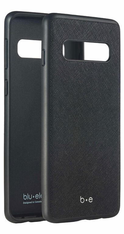 Blu Element Etui Saffiano Noir pour Samsung Galaxy S10+