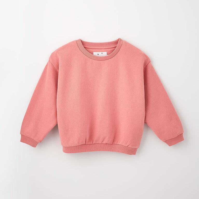 sweet slouchy sweatshirt , 2-3y - rose