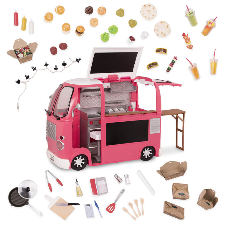 Our Generation, Grill To Go Food Truck Playset for 18-inch Dolls