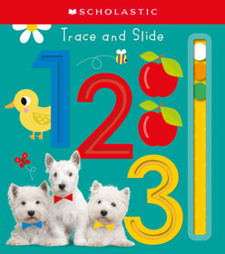 Scholastic - Scholastic Early Learners - Trace & Slide 123 - Édition anglaise