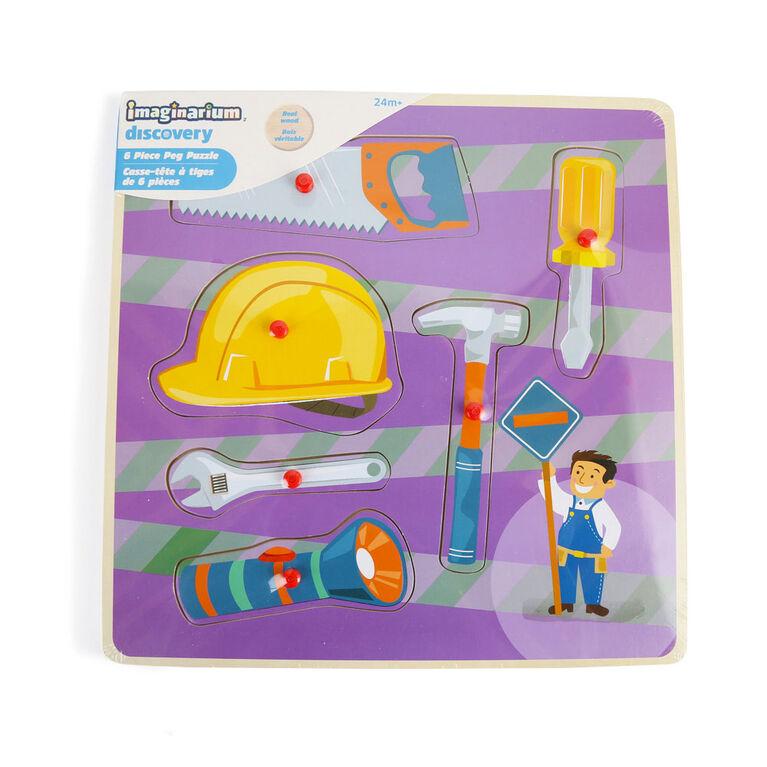 Imaginarium Discovery - Casse-tête à tiges de 6 pièces - Construction