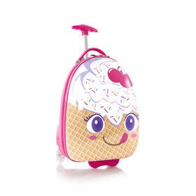 Bagages en forme d'oeuf pour enfants Heys - crème glacée à la gaufre
