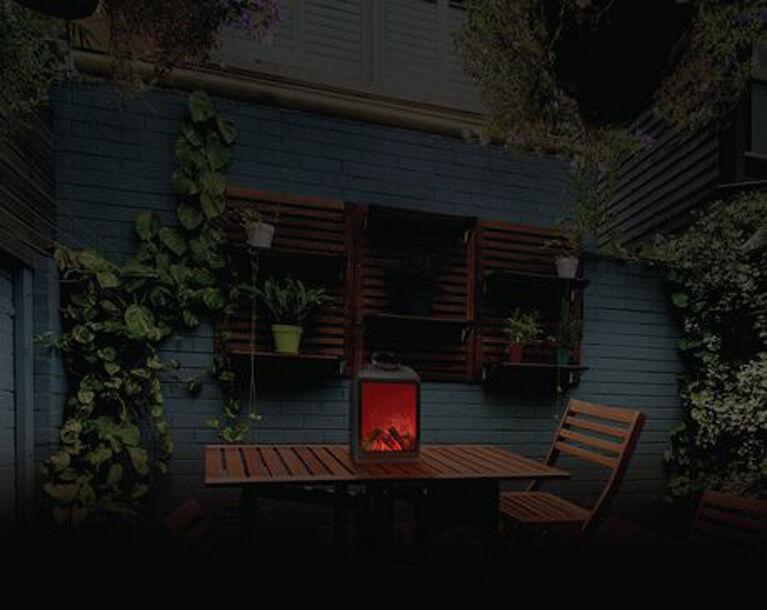 Sharper Image Flameless Fireplace LED Lantern - Non Heated