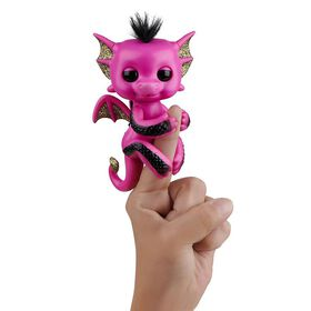 Fingerlings - Interactive Baby Dragon - Lexi (Hot Pink with Black/Gold Glitter) - Exclusive - R Exclusive