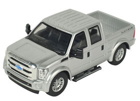 Braha 1:24 Licensed Friction Car (F-350 Super Duty Platinum Silver)