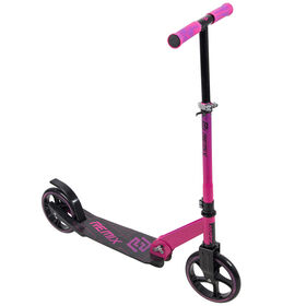 Huffy Remix Folding 200mm Scooter, Pink and Purple