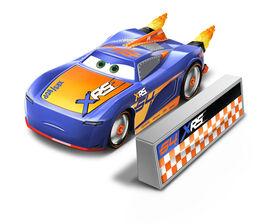 Disney/Pixar Cars XRS Rocket Racing Barry DePedal with Blast Wall