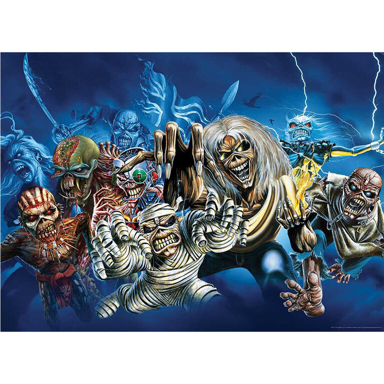 """Iron Maiden """"The Faces of Eddie"""" 1000 Piece Puzzle - English Edition"""