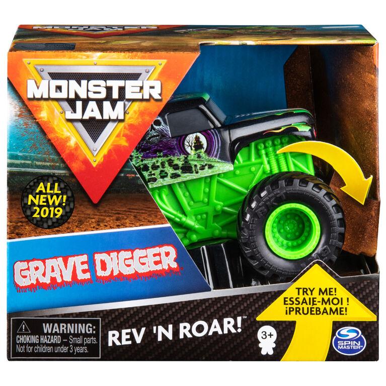Monster Jam, Official Grave Digger Rev 'N Roar Monster Truck, 1:43 Scale