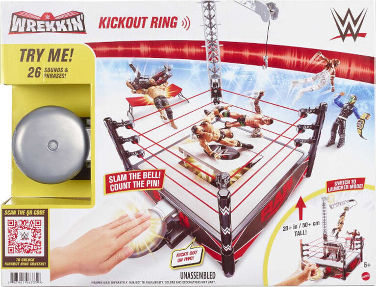 WWE Wrekkin' Kickout Ring Playset - English Edition
