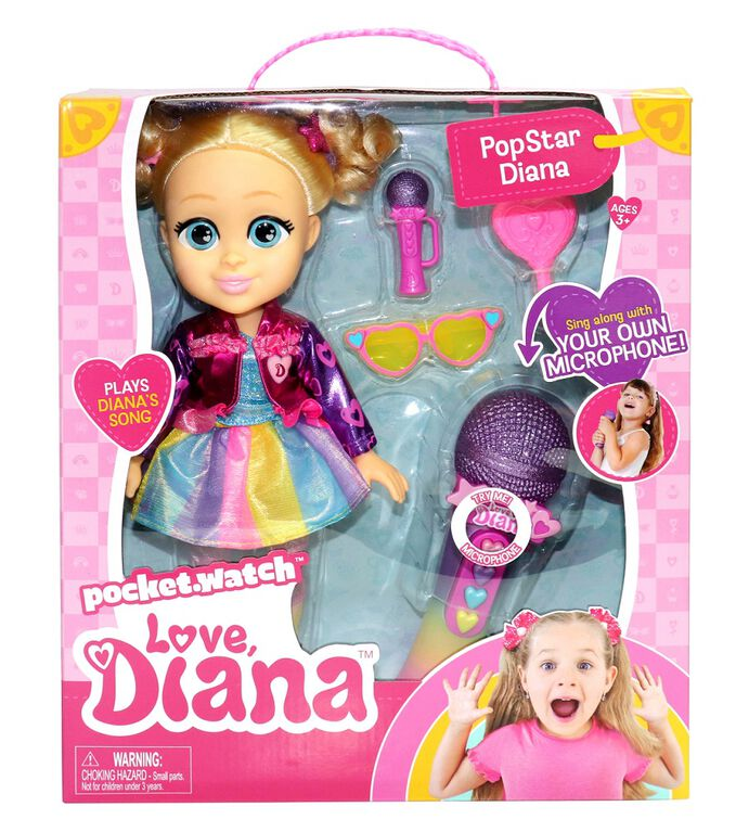 Love, Diana Popstar Diana Sing Along Doll - R Exclusive