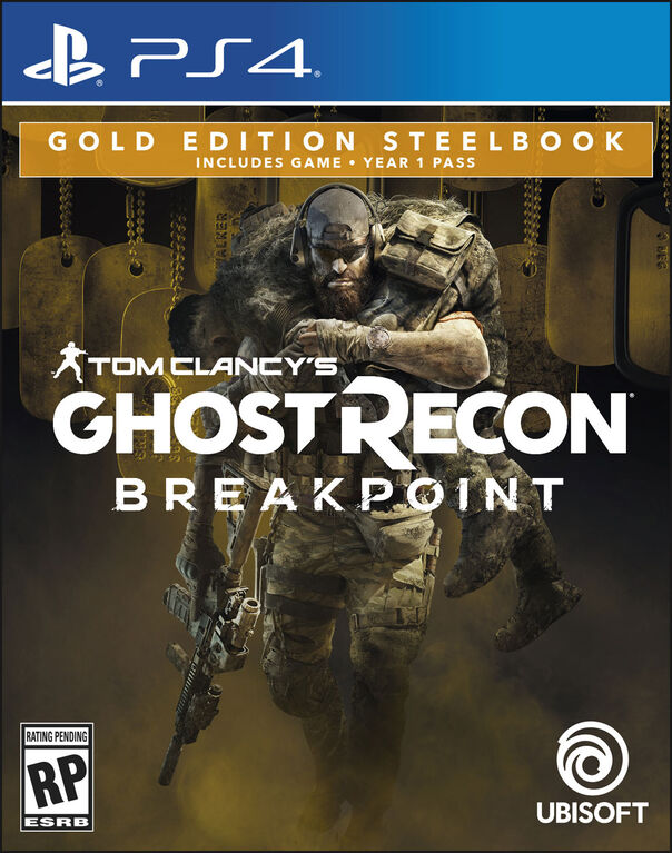 Tom Clancy's Ghost Recon Breakpoint Gold Steelbook Edition - PlayStation 4