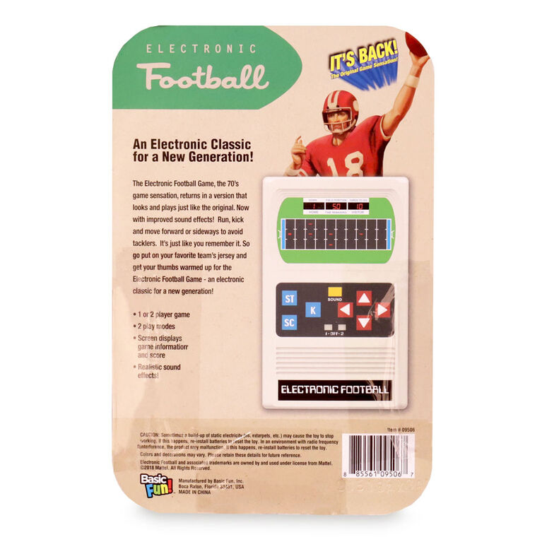 Mattel Classic Football Electronic Game