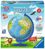 Ravensburger! Childrens Globe Puzzle 180 Piece  - French Edition
