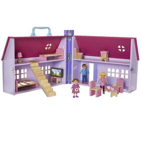 Imaginarium Discovery Pretend Daisy Wooden Dollhouse