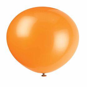 "12"" Latex Balloons, 10 pieces - Pumpkin Orange"