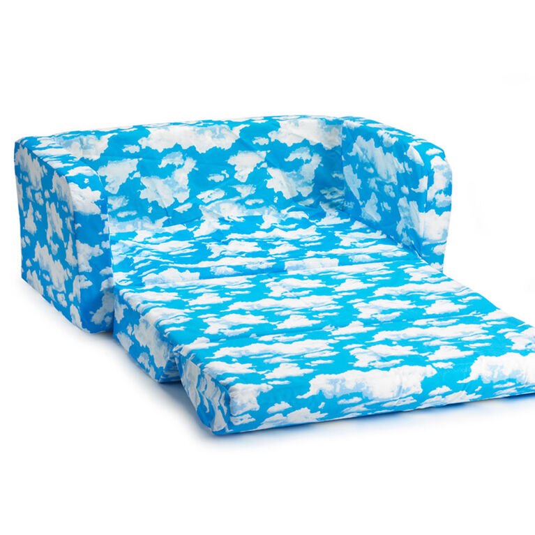 Comfy Kids Flip Sofa - Clouds