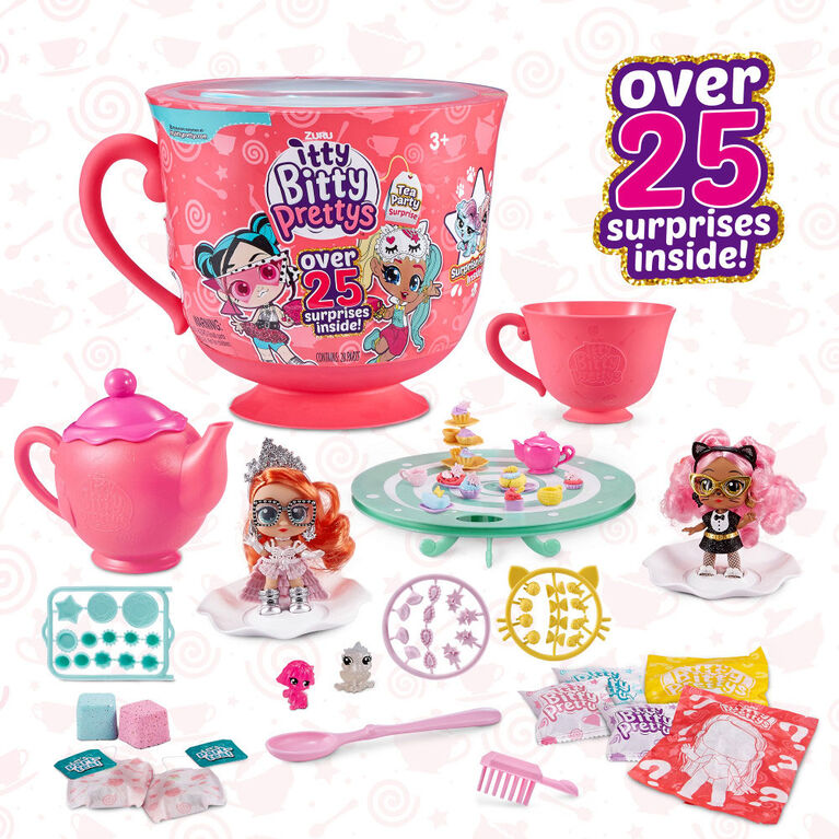 Assortiment de poupées Itty Bitty Pretty et petite tasse de thé Tea Party (inclut 12 Surprises !) par ZURU
