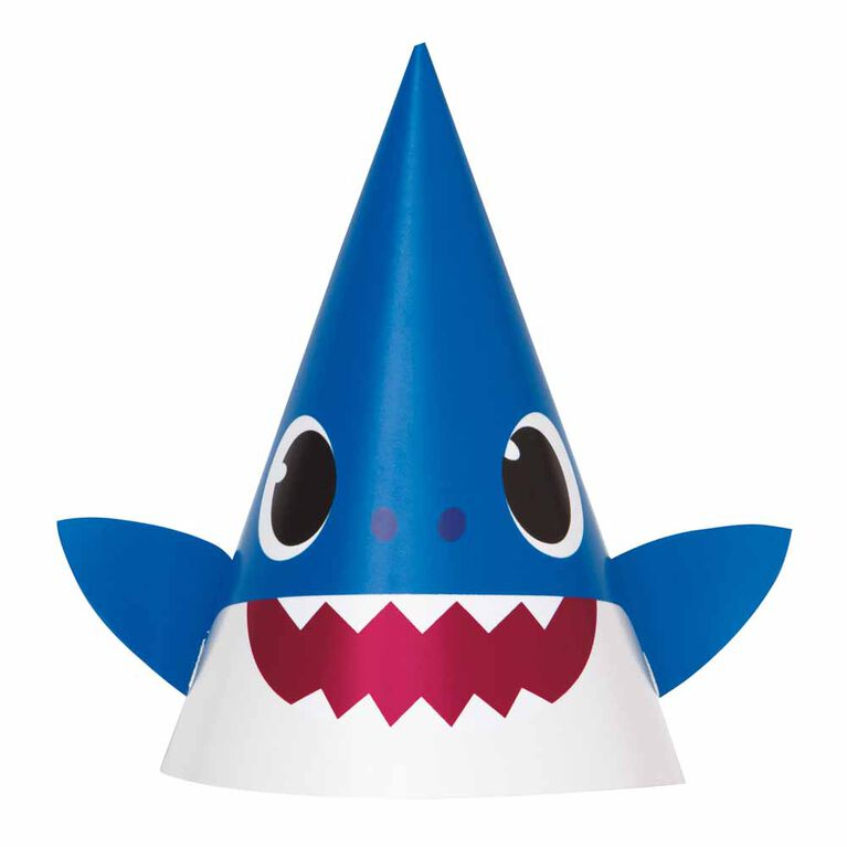 Baby Shark Party Hats, 8 Hats